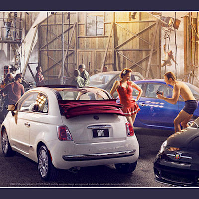 FIAT Pays Homage to Hollywood in Vanity Fair Ad