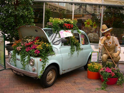 fiat with flowers