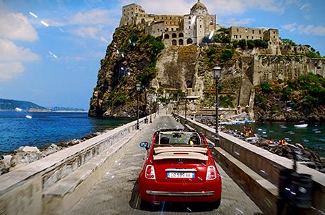 Fiat 500 Color Therapy Rosso Passione Pastello